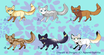 Chibi Fox adoptables CLOSED by Aquene-lupetta
