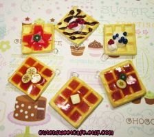 Custom Scented Waffle Charms by pinknikki