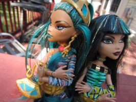 No Way Sister: Cleo and Nefera by Childofwestwind