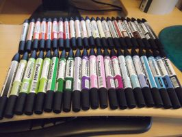 Letraset Promarkers by DarkWolfChan