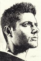Jensen Ackles India Ink by rick48180