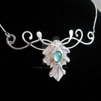 Fae ElvinLeaf Necklace by camias