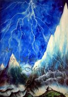 mountain lightning without rain, beautiful anomaly by SOFIAMETALQUEEN