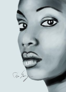 Face portrait by TheSeryne