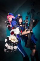 Vi and Caitlyn - The Police of Piltover by AlexReiss