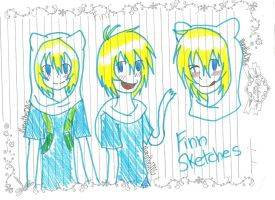 Bored at School Class 10# - Finn's final skecthes by ManatheDMG