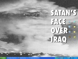 Satan's Face Over Iraq by Wahreoh