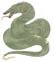Egg Hatched - Zombie Monster Snake by ShadowInkAdopts