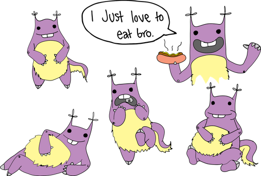 food monster by lullaby-bex