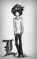 Detective L Death Note by mymusicaladdiction