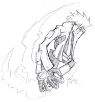 Daily Sketch 32: Ragna the Bloodedge 2 by ReluctantZombie