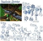 Nuzlocke Sketches and BG Practice by TotoRee12