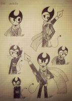 Ink bendy-sketches #4 by vocaloid121