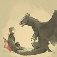 httyd 2 hiccup and toothless by Kimbolt-Prime