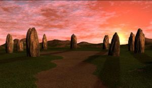 3d Background - Stone Circle by Sheona-Stock