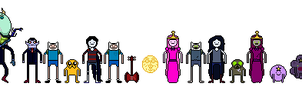 Adventure Time Unpixeled by WindMarine