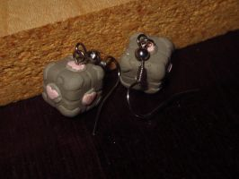 Companion Cube Earrings for ~mouseington by sonickingscrewdriver