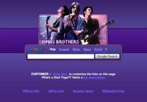 Jonas Brothers Startpage by AwesomeStart