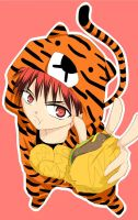 Kagamichi in Tiger costume by yijou