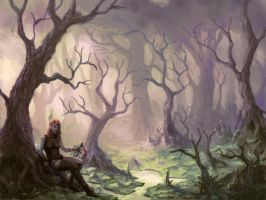 Ipad forest painting by Peter-Ortiz