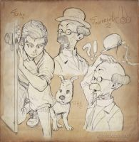 .::Tintin and prof. Calculus Manga::. by makushiro