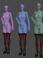 Asari Strippers 1! by anorexianevrosa