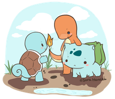 re-do:: Starter Pokemon - gen 1 by sorahanaki