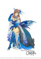 Butterfly Costume Noirael by ChibiSofa