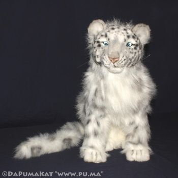 Hansa - Large Snow Leopard Cub plush by dapumakat