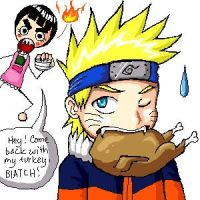 Lee and Naruto Thanksgiving by firnantowen
