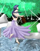 Hinata training on water by LadyCyco