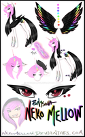 Ponysona - Neko Mellow Reference Sheet 2014 by NekoMellow