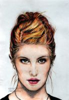 Hayley Williams Colored Pencil by Xanachan90