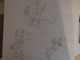 Sonic Sketches: Redone by SonicWindAttack