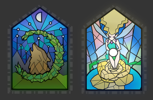 Stained Glass Fantasy Sigils by Phanteia