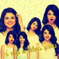 6 pngs de Selena Gomez by ValenEditions11