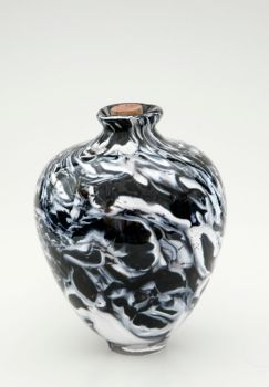 Black And White Marble Vase by JDilorenzo