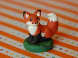 Fox Figure by LeiliaClay