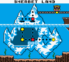 Gameboy colorized-WarioLand Sherbet Land by JohnnyOTGS