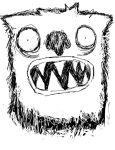 I drew a monster by Tuguel