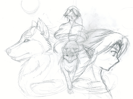 Wolf Link Rough Wallpaper by TheHeroine