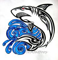 Shark Tribal by weedenstein