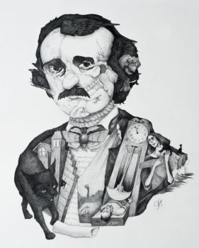 The Incredible Mr. Poe by jenhuggybear