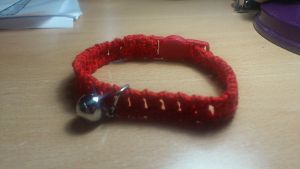 Crochet Cat Collar by passionfyre