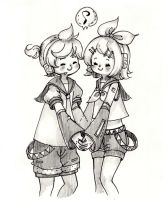Kagamine Twin by hahuchal