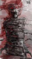 sp012-mummified in barbed wire by FASSLAYER