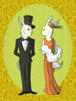 Classy Bunnies by monkette