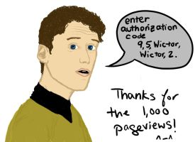 1,000 Pageviews - Pavel Chekov by denalim