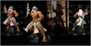 Zeus Statue for Sentient Toyz by AYsculpture