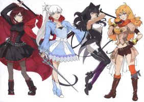 RWBY by Miraby